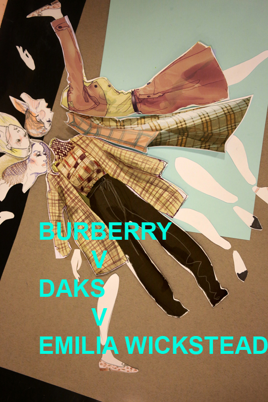 DAKS V BURBERRY V EMILIA WICKSTEAD 2 BY SLASHSTROKE