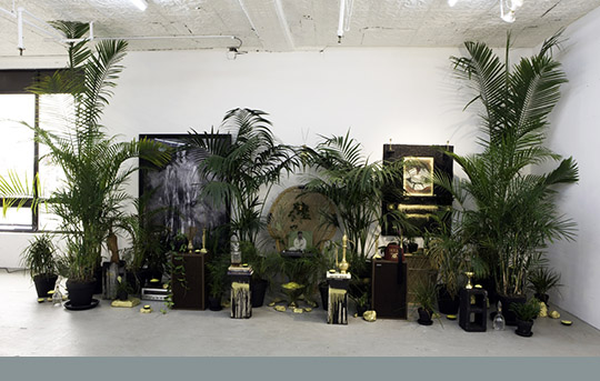 Rashid Johnson: The Moment of Creation, 2011. Installation view. Image courtesy of the artist and Rental Gallery, New York, NY