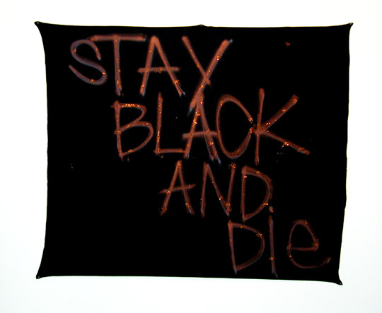 "Rashid Johnson: Stay Black and Die (3), 2006 from the series ""Things I need to do"", 2006. Image courtesy of the artist and Postmasters, New York, NY."